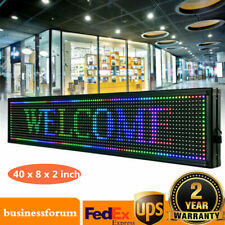 Led Sign 408 Inch Scroll Message Board 7 Color Programmable Scrolling Usa Stock