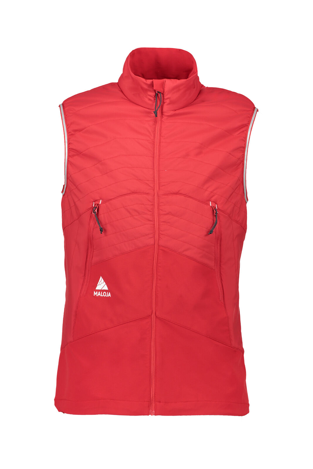 Maloja Cross-Country Vest Functional Vest Bodywarmer Red Falunm. Primaloft