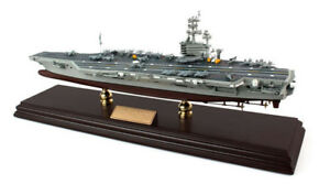 Us Navy Uss Intrepid Aircraft Carrier Mbacint Wood Desktop Model Ship Assembled Refreshing And Beneficial To The Eyes Collectibles Models