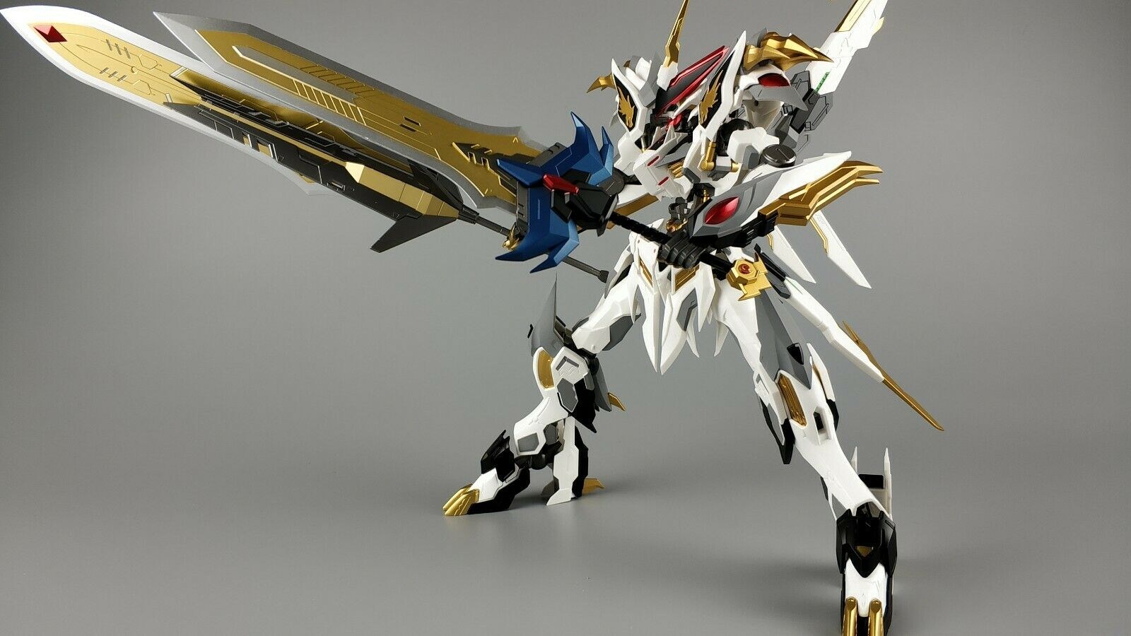 1 100 Metal Myth Barbatos Dragon King Gundam Action Figure Robot Toy Model Kit