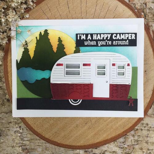 Mountains Camping Car Steel Die Cut Cutting Dies Stencils Card Making Diy Crafts