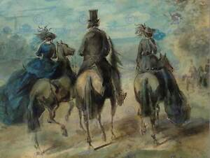 CONSTANTIN-GUYS-FRENCH-PROMENADE-IN-THE-BOIS-OLD-ART-PAINTING-POSTER-BB5150B