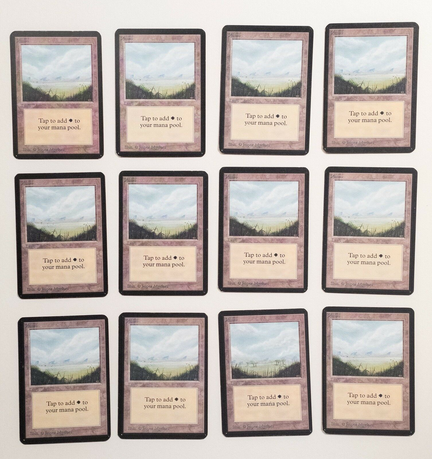 12 Alpha Plains Mtg Magic The Gathering old old old School 93 94 dd7b3f