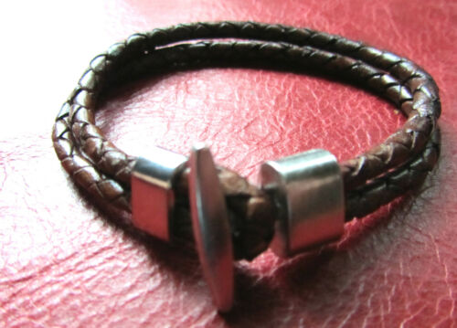 Quality Braided Leather Cord 4mm  Genuine Real Leather Black or Antique Brown