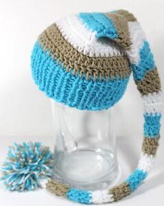 35-40cm NEU Kopfum Mütze Neugeborene  Babymütze Fotoshooting Merinowolle