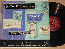 JULIUS KATCHEN (Piano) Rachmaninov, Dohnanyi LP