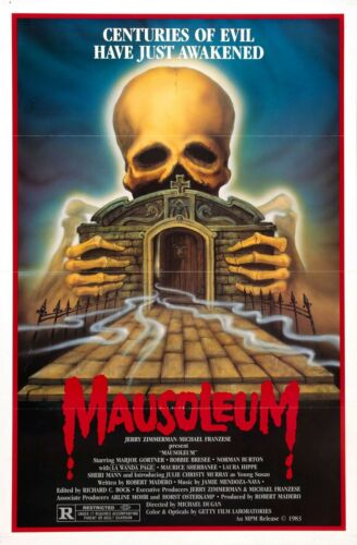 MAUSOLEUM Movie Poster RARE Horror B Horror Classic Vinegar Syndrome