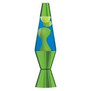 Image Is Loading Metallic Green Lava Lamp With Yellow Wax And