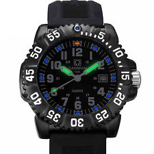 Luxury Mens H3 Tritium Light Date Waterproof Quartz Date Military Sports Watch