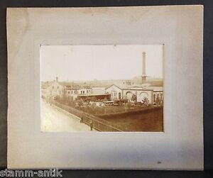 altes orig.Hartpappfoto um 1890,Passpartout,Dampfkesselbau Meerane ...