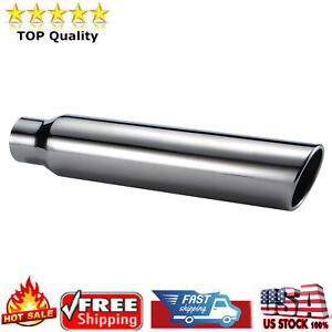 """18/"""" Long 3.5/"""" Outlet Stainless Steel Exhaust Tip 2.5/"""" Inlet"""
