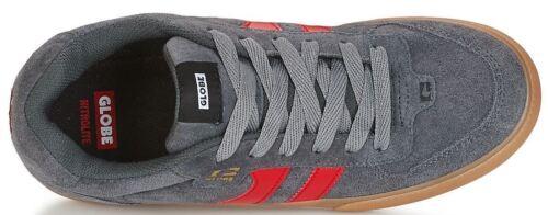 Schuhe Skate Herren Globe Encore 2 Grau Charcoal Gummi Red Chaussures