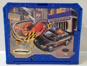 2001-Mattel-Matchbox-Police-Station-Fold-n-go-Carry-Playset-Blue-For-1-64-Scale