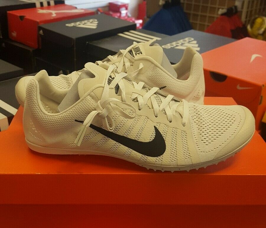 Nike zoom rival d track shoes white size 10 819164