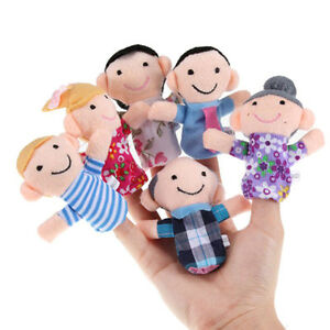 6x-set-Cartoon-Family-Finger-Puppets-Cloth-Baby-Educational-Hand-Story-ToyR-e-ji