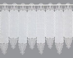 scheibengardine kurzgardine sektfarbene spitzengardine heidi plauener spitze ebay. Black Bedroom Furniture Sets. Home Design Ideas