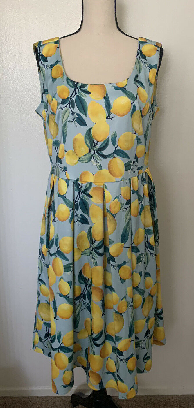 Dolly and Dotty Vintage Inspired Lemon Print Dres… - image 2