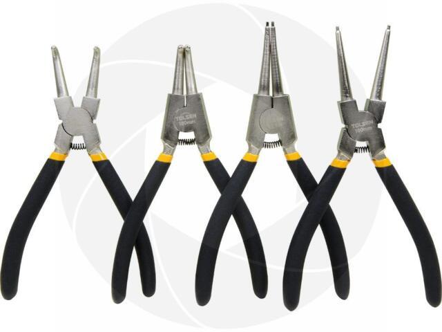 "External Retaining Clips Snap Ring Circlip Pliers Set Portable 7/"" Internal"