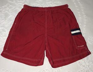 5bac7d0de0 Vintage 90s TOMMY HILFIGER Flag Big Logo Shorts Swim Trunks color ...