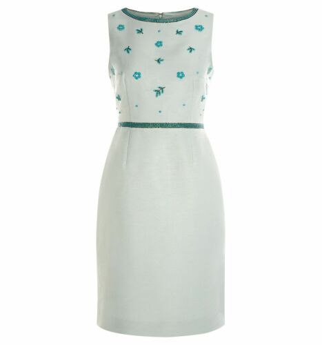 BNWT. HOBBS Ashton Beaded Shift Cameo Green Dress Various Sizes RRP £179