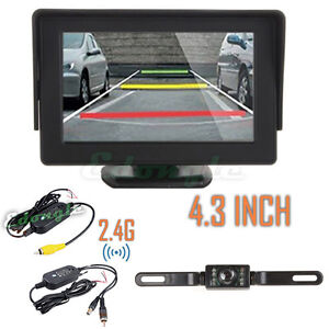 4 3 tft lcd monitor wireless car backup camera rear view system night vision ebay. Black Bedroom Furniture Sets. Home Design Ideas