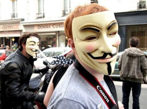 Lot V For Vendetta Mask Guy Fawkes Anonymous Halloween Masks Dress Cosplay SF