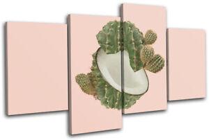 Cactus-Coconut-Concept-Food-Kitchen-MULTI-CANVAS-WALL-ART-Picture-Print