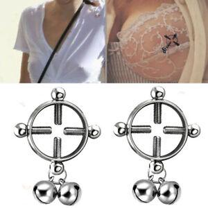2pcs//set Round Ring Shield Body Fake Piercing Surgical Steel Fashion Nipple Nail