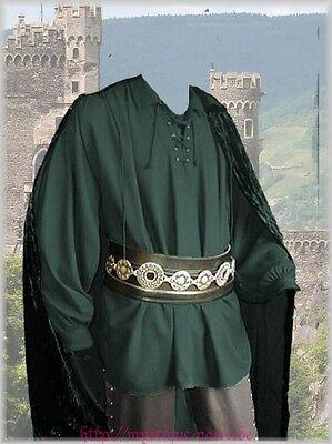 Schnür - Hemd Merlin Gothic Mittelalter Larp Landlord Landsknecht grün