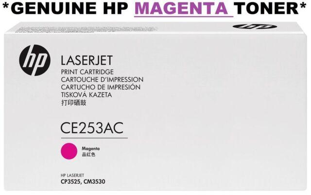 HP GENUINE/ORIGINAL 504A CE253AC MAGENTA/PINK TONER CARTRIDGE CE253A cp3525 NEW
