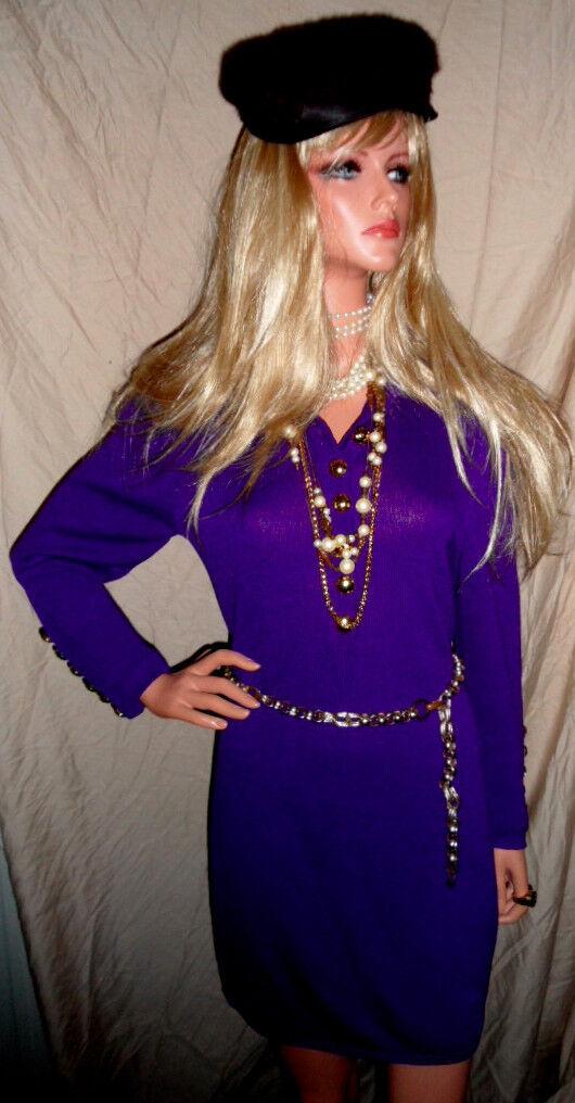 Gorgeous ST JOHN Passion Purple Dress sz6 Santana Knit EUC ooohh la la  L@@K