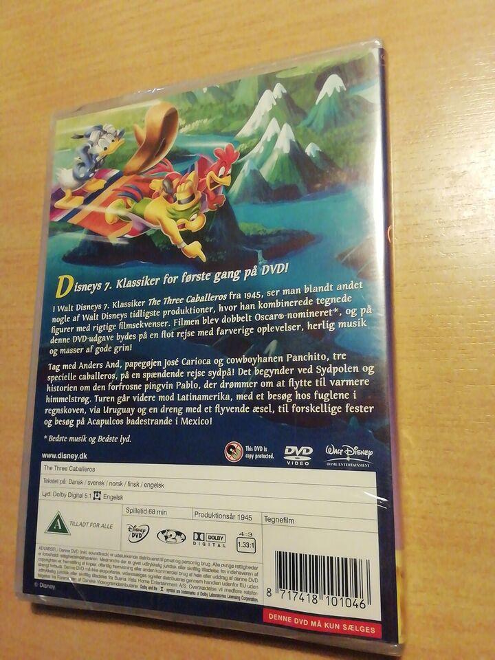 The Three Caballeros, instruktør Disney, DVD