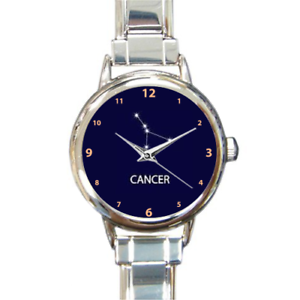 Image Is Loading Cancer Zodiac Star Sign Stars Linked Charm Watch