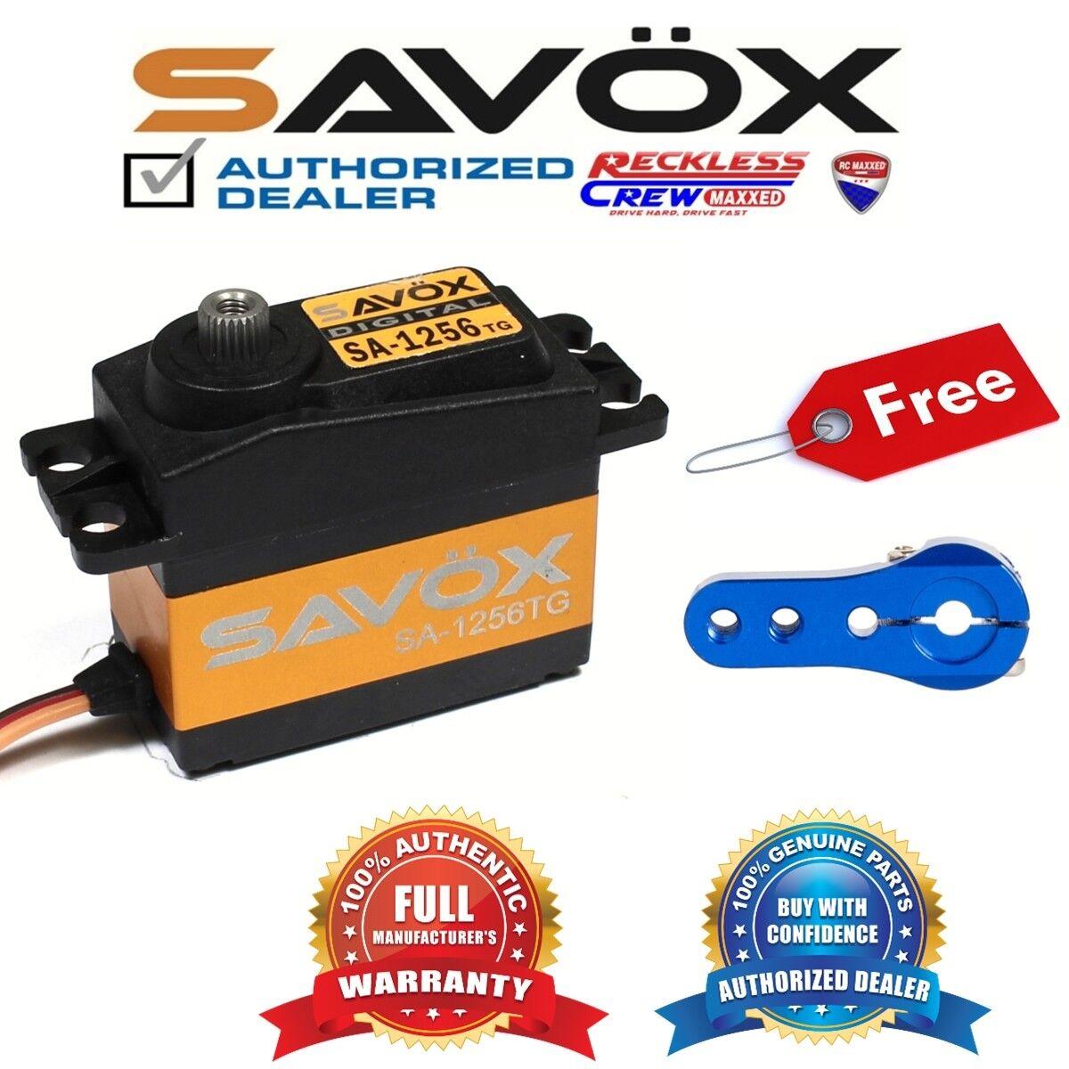 disegni esclusivi Savox SA-1256TG SA-1256TG SA-1256TG Coreless Digital Servo + gratuito Aluminium servo horn blu  compra meglio