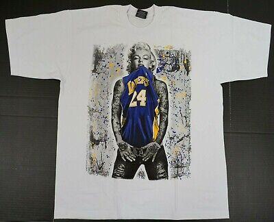 Marilyn Monroe T-shirt LA Lakers 24 Graffiti Art KOBE Tee Men's 2XL New | eBay