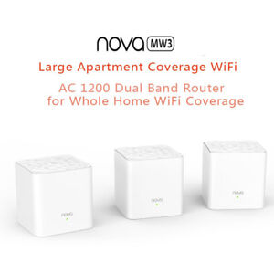 1-2-3pcs-Tenda-Nova-Mw3-Wireless-Wifi-Router-Whole-Home-Mesh-Wifi-System