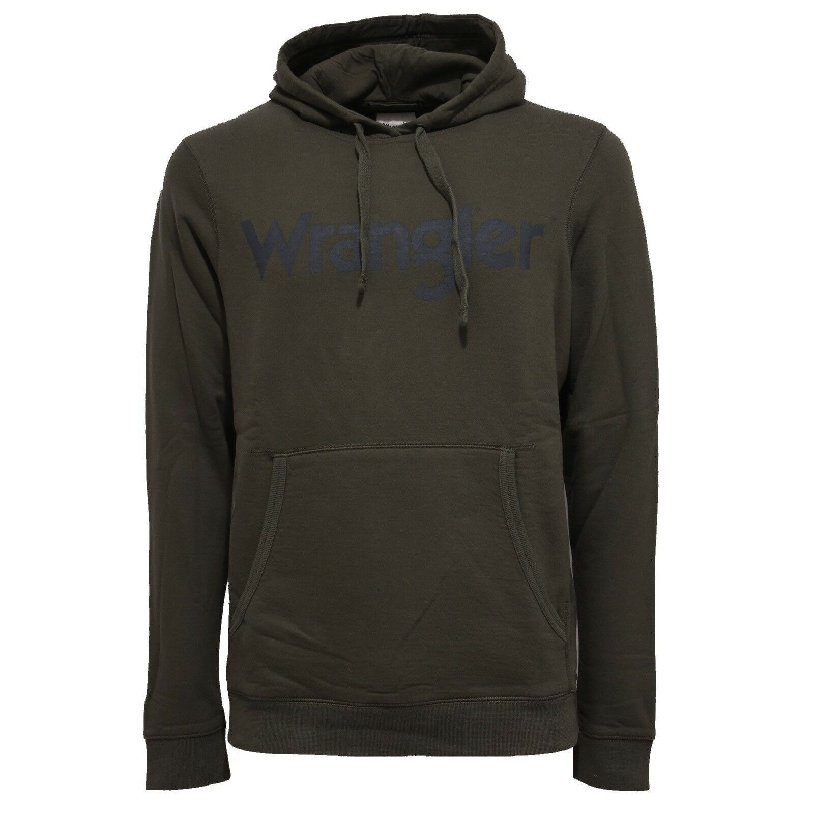 9900X felpa uomo WRANGLER military verde cotton sweatshirt man