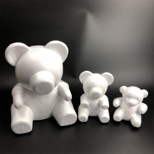 White Polystyrene Bear Styrofoam Foam Modelling DIY Gift Christmas Party Decor