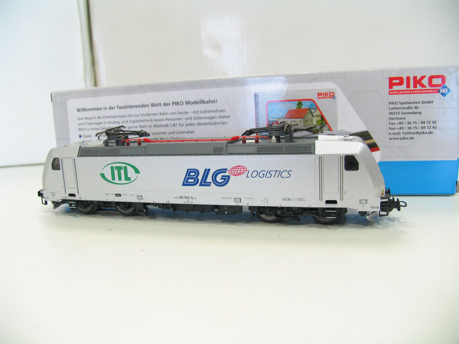 Piko 59355 E-Locomotive BR 185 ITL BLG logistig AC Digital a1283