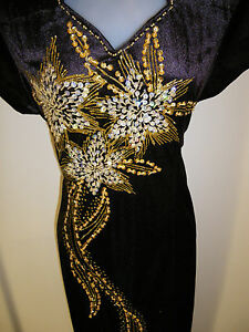 SALE-Plus-Size-20-HN-BN-New-Dinner-Dress-Long-Dress-Party-Gown-with-Sequins