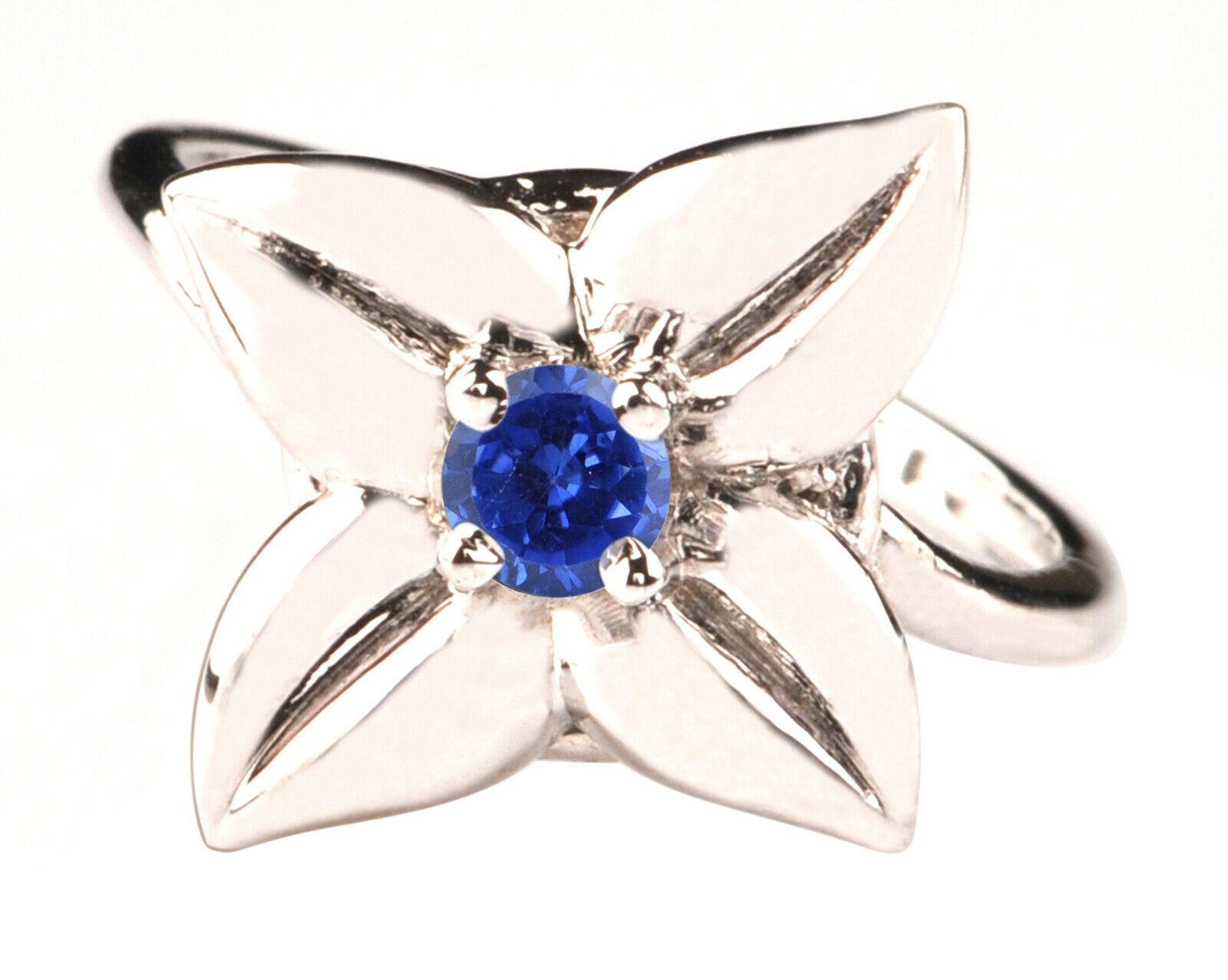 100% Natural blueee Tanzanite 1.20CT Round Cut 14KT White gold Wedding Ring