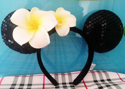 Disney Aulani Exclusive Plumeria Flower Minnie Mouse Ears Headband BNWT