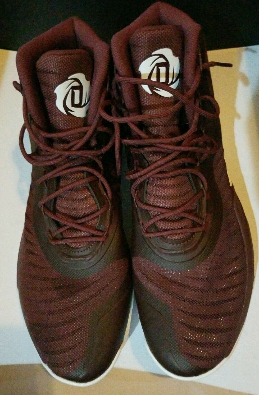 Adidas D pink 8  Sneakers - Burgundy  White Mens Size 16 New