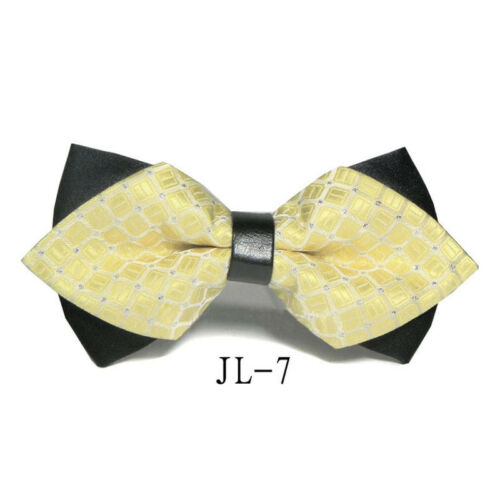 Classic Commercial Novelty Men Tie Fashion Bow Tie Satin Silk Hot Necktie Tuxedo