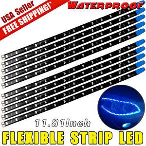 10x blue 30cm12 car motor boat flexible led strip light bar la foto se est cargando 10x blue 30cm 12 034 car motor boat aloadofball Images