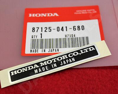 GENUINE Honda MADE IN JAPAN Decal Emblem Sticker Black 87125-041-680 Pack of 3