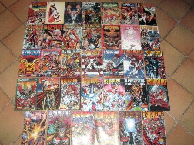 lot 34 albums SUPREME séries 1, glory days, return, legend - comics US VO Image