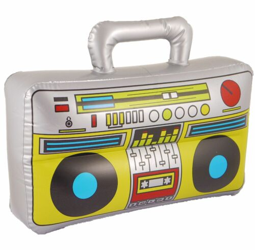 Inflatable Boom Box Blow up Speaker Kids Toy Stereo Party Decoration Accessory