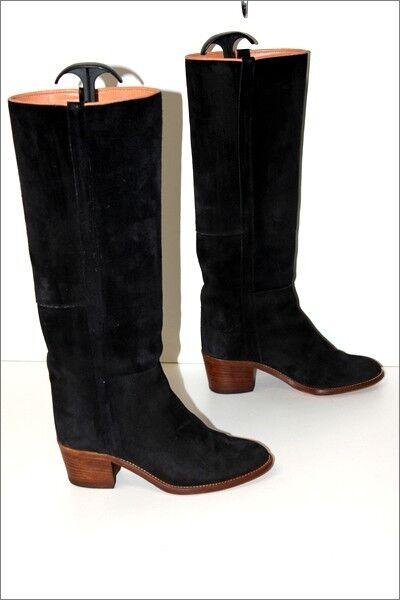 botas Cavalières Daim negro  Doublées Cuir Cuir Cuir T 36.5 TBE  Para tu estilo de juego a los precios más baratos.