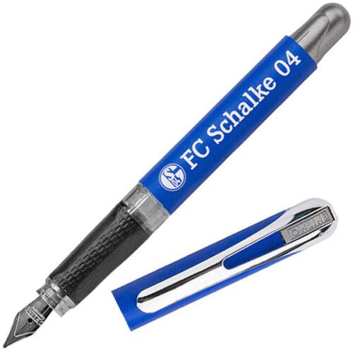 FC Schalke 04 Füller Füllhalter Schreiber Schalke Logo Tintenpatrone königsblau